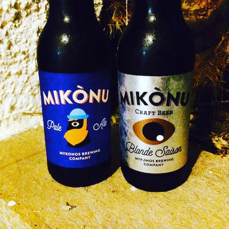 Craft beers of Mykonos, sail transported