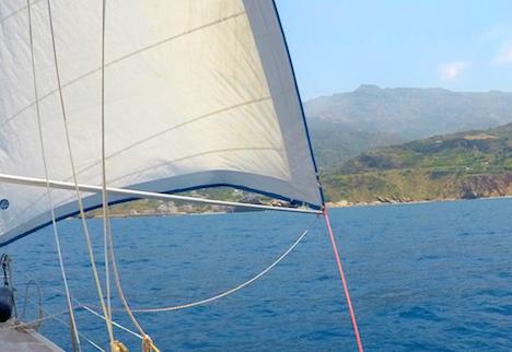Sailing off Ikaria
