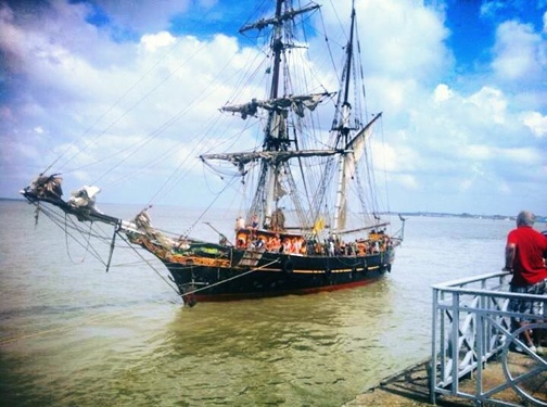 The Tres Hombres has arrived in Belém, Brazil